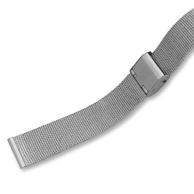 【細編織】8-24mm 米蘭金屬編織錶帶。氣質銀