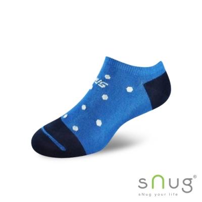 SNUG健康除臭襪奈米消臭時尚船襪藍白點S061,S062