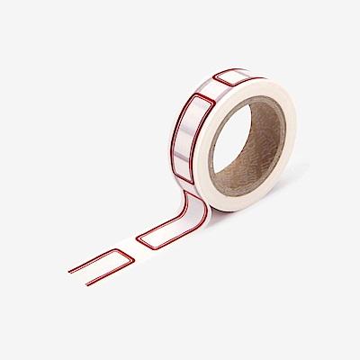Dailylike 單捲紙膠帶 - 107 紅標籤