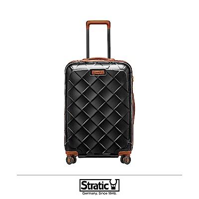 德國 Stratic 雙齒防盜防爆拉鍊行李箱 25吋 黑色