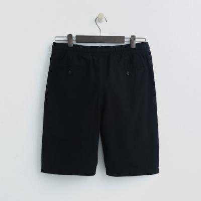 Hang Ten - 男裝 - 鬆緊休閒西裝短褲-黑