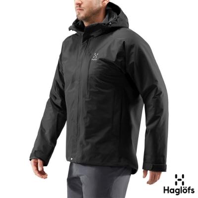Haglofs 男 Stratus GT防水 保暖 透氣 化纖外套 黑色
