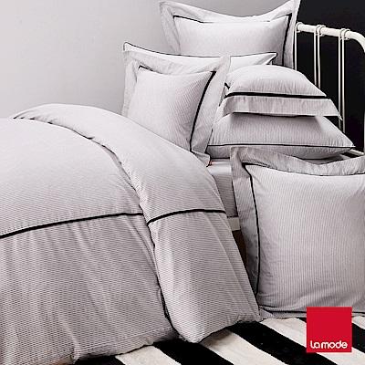 La mode寢飾  銀河系列-宇宙黑環保印染100%精梳棉被套床包組(加大)