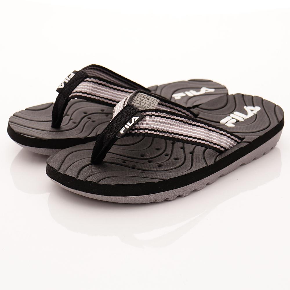 FILA頂級童鞋 輕量排水拖鞋款 FO34R-041黑(中大童段)C