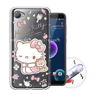 三麗鷗授權 HTC Desire 12 甜蜜系列彩繪空壓殼(小熊)