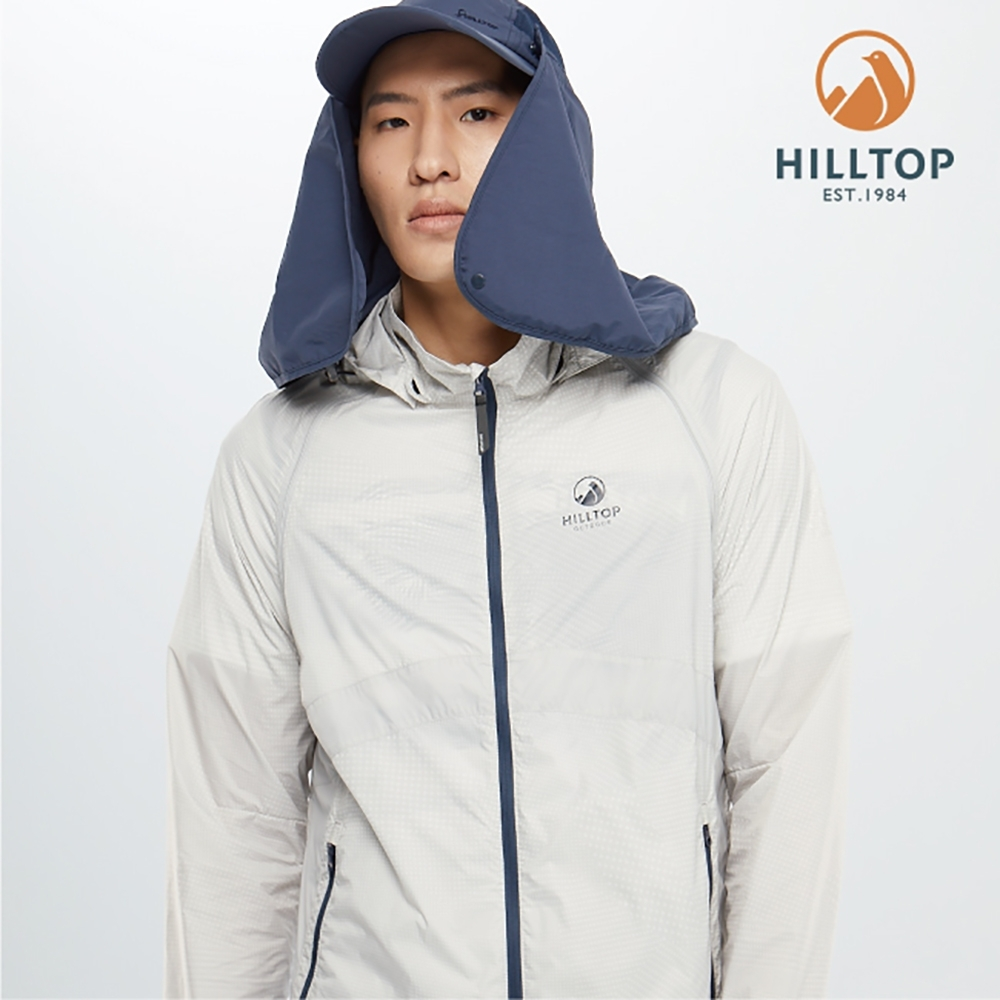 【hilltop山頂鳥】男款輕量超潑水抗UV外套S02MA0科技灰