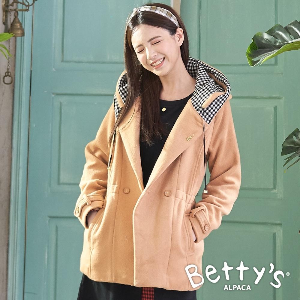 betty's貝蒂思 縮腰顯瘦毛呢外套(卡其)