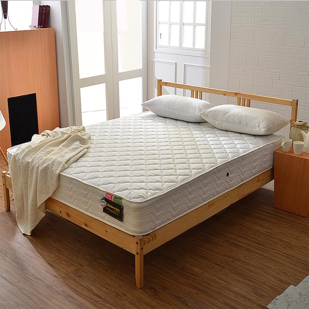 A家-輕女性專用-抗菌防潑水-護邊獨立筒床墊-雙人加大6尺