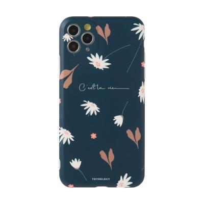 【TOYSELECT】iPhone 12 幽謐雛菊Dark Daisy抗污手機殼