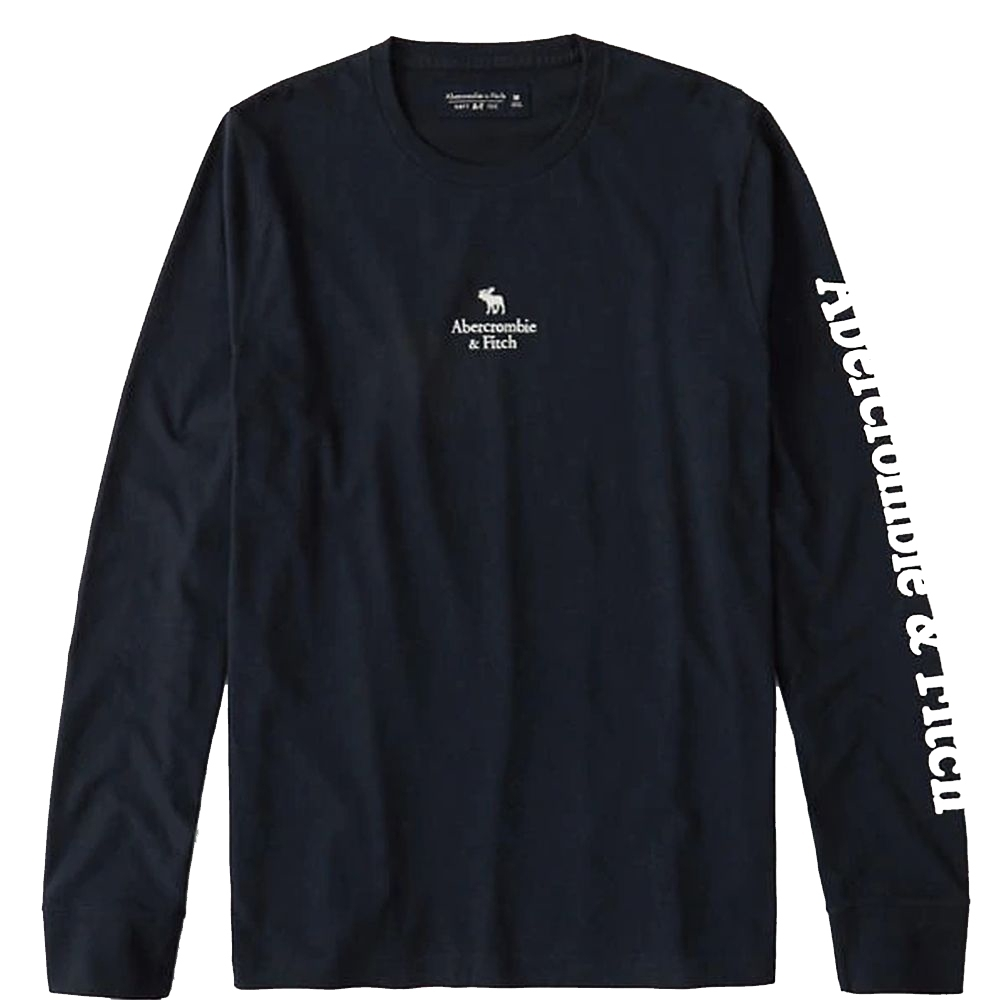 AF a&f Abercrombie & Fitch 男 長袖T恤 藍色 1478
