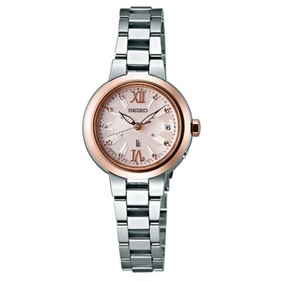 SEIKO精工LUKIA星耀蜜糖太陽能電波腕錶(1B22-0BL0KS/SSVW068J)