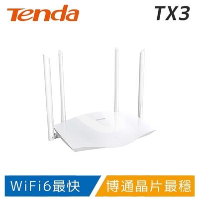 Tenda TX3 WiFi6 AX1800 極速路由器