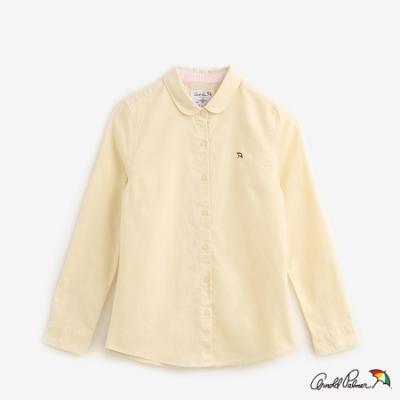 Arnold Palmer-女裝-Oxford素面全長袖開襟襯衫-黃