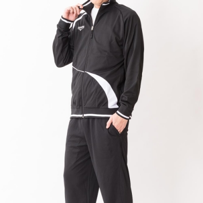 V.TEAM-男款針織外套-黑