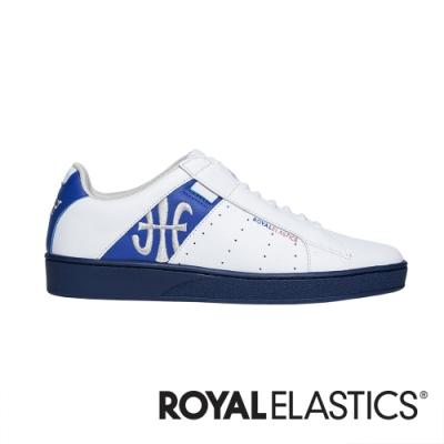 ROYAL ELASTICS Icon Genesis 白藍真皮運動休閒鞋 (男) 01902-058