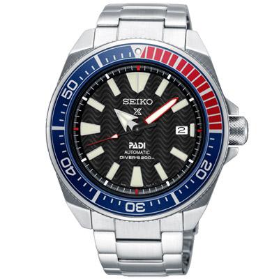 SEIKO 精工 PROSPEX 潛水機械手錶SRPB99J1-黑X銀/43.8mm