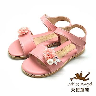 天使童鞋 仲夏微風雛菊涼鞋 J8007-08 粉