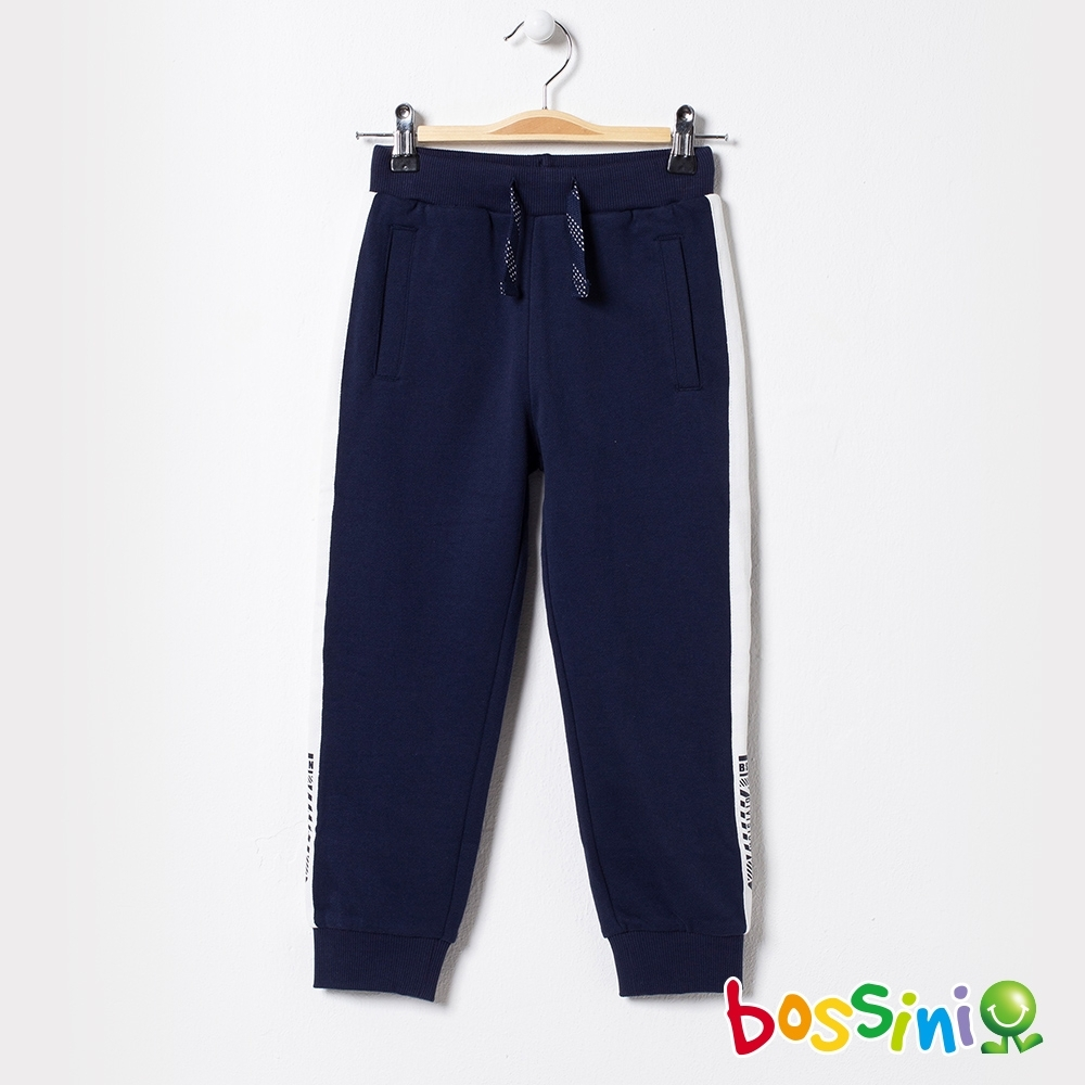 bossini男童-運動束口綿褲01海軍藍