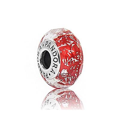 Pandora 潘朵拉 紅色閃耀多角琉璃珠 純銀墜飾 串珠