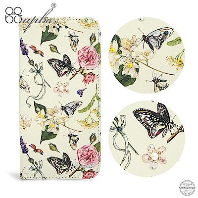 apbs OPPO R11 施華水晶鑽皮套-蝴蝶