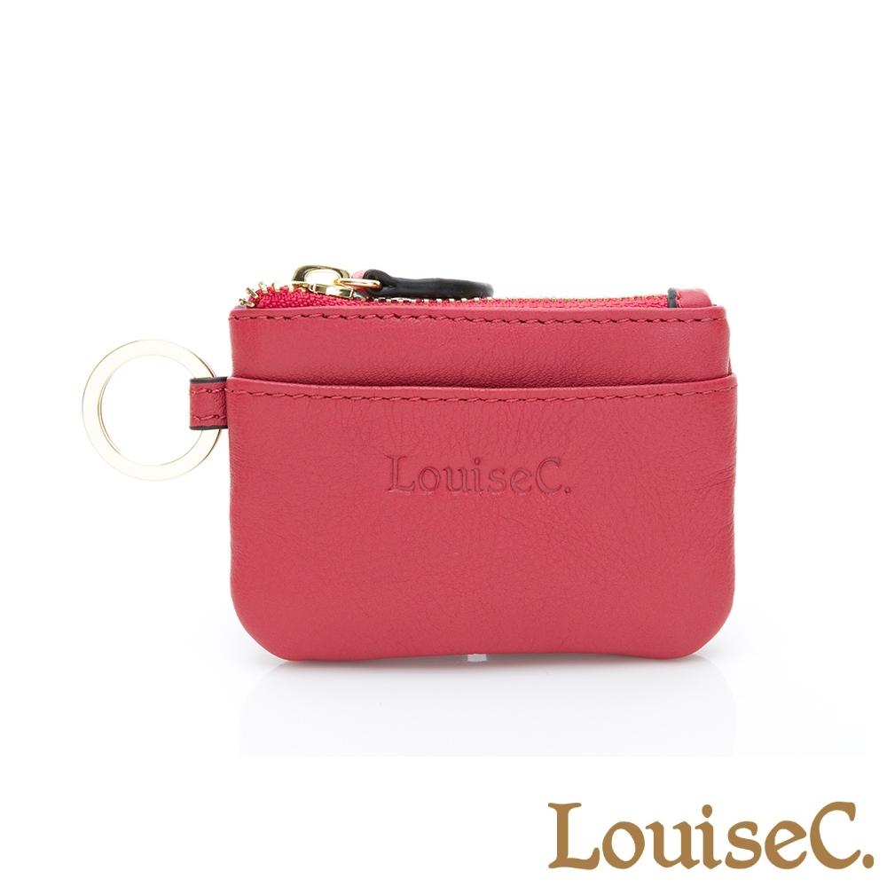 【LouiseC.】現代迷你版零錢鑰匙包-紅色 (16C01-0058A01)
