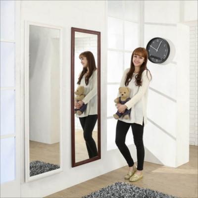 佳美 歐風寬版簡約實木壁鏡(1入,W47.5xH159)玄關鏡 穿衣鏡 化妝鏡