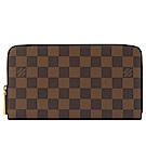 LV N63502 棋盤格紋ㄇ字拉鍊萬用對開長夾
