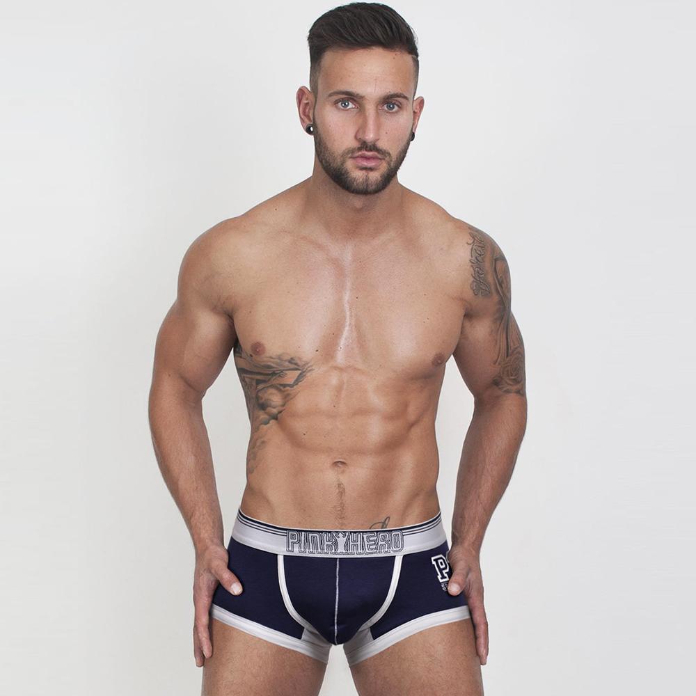 男內褲 足球運動棉質彈力拼接男內褲-藍色 LOTUS