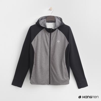 Hang Ten-男裝-ThermoContro-撞色輕量機能外套-灰