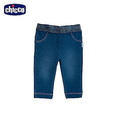 chicco-To Be Baby-伸縮針織牛仔長褲