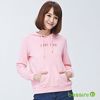 bossini女裝-連帽厚棉T恤01嫩粉