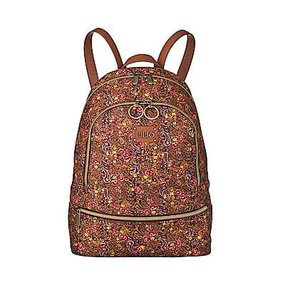 後背包-微型手繪印花-紅 - LiliO