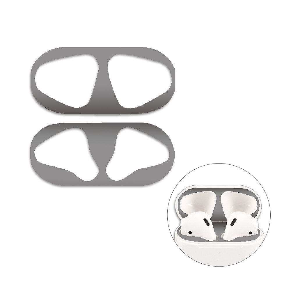 Airpods二代 防塵貼 金屬超薄材質