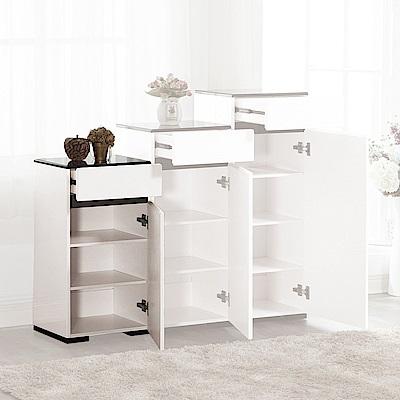 H&D 奈特白色低鞋櫃