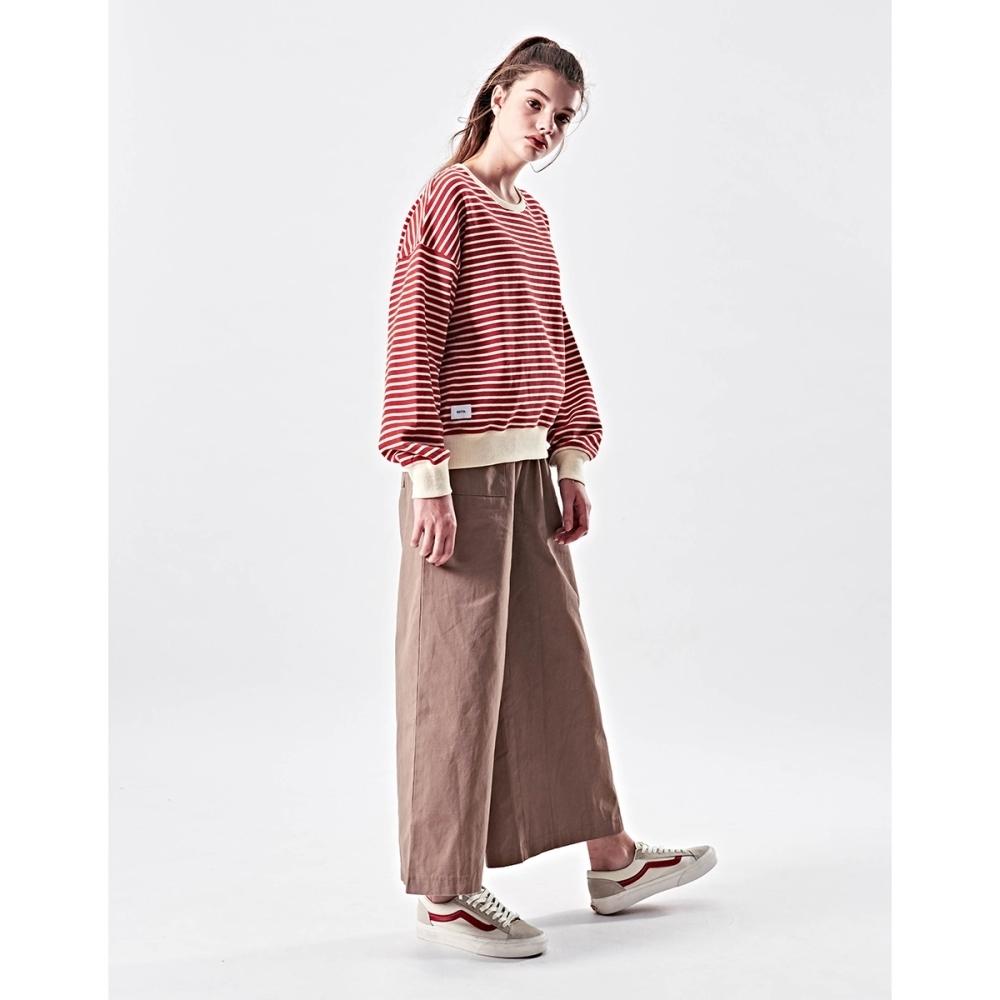 NAVY-工裝綁帶寬長褲-女【VNA029】