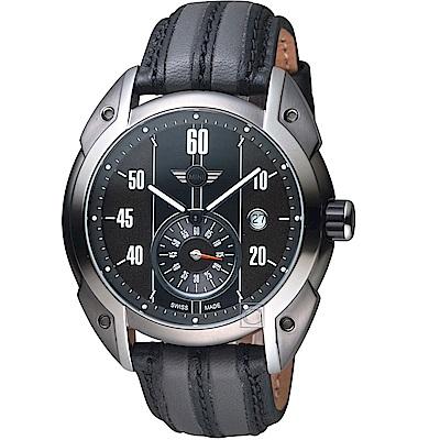 MINI Swiss Watches Cooper復古賽車錶(MINI-160303)-灰