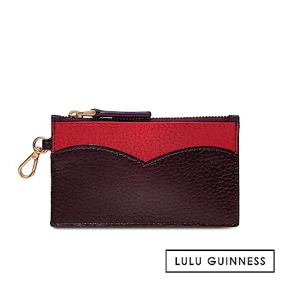 LULU GUINNESS CUPIDS BOW 零錢包 (茄紫)