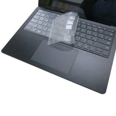 EZstick Microsoft Surface Laptop 3 石墨黑 奈米銀抗菌TPU鍵盤膜