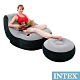 INTEX 懶骨頭 單人充氣沙發椅附腳椅-灰色(68564) product thumbnail 1