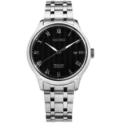 SEIKO 精工 PRESAGE 自動上鍊 藍寶石水晶玻璃 不鏽鋼機械錶-黑色 /42mm