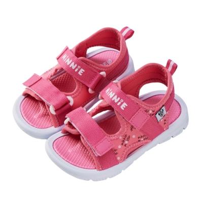 迪士尼童鞋  米妮  織帶造型運動涼鞋-桃(柏睿鞋業)