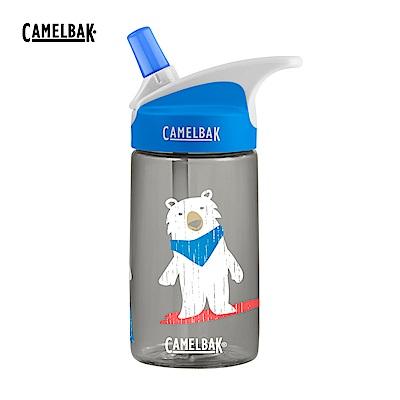 400ml eddy 兒童吸管運動水瓶 滑雪白熊