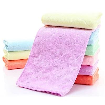 【粉嫩Baby】可掛式小方巾 毛巾 口水巾  (10入組) 顏色隨機