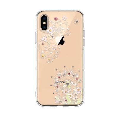 Corner4 iPhone XS Max 6.5吋奧地利彩鑽防摔手機殼-彼岸花