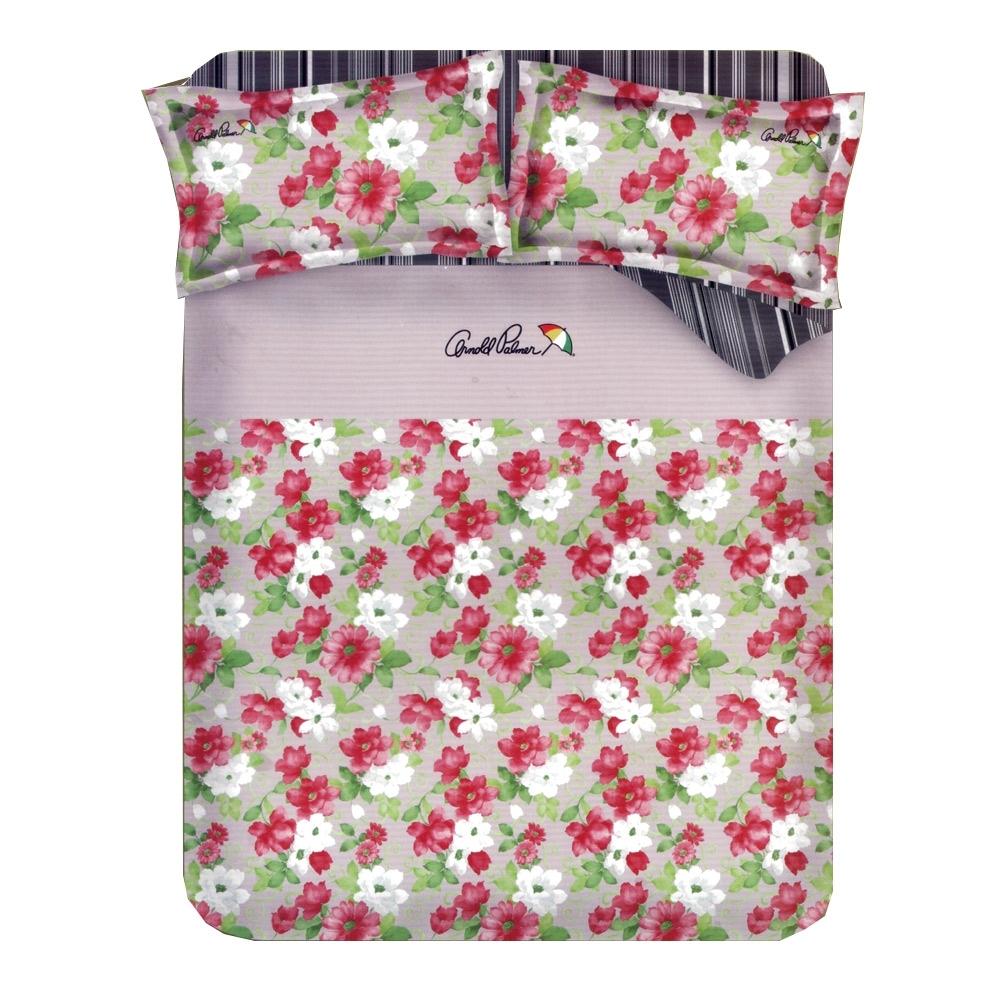 Arnold Palmer雨傘牌 晨曦花語-台製40紗精梳棉床包枕套雙人加大三件組