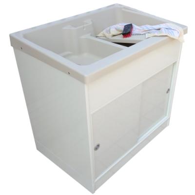 新式特大型推門款塑鋼洗衣槽 水槽 洗手台-1入