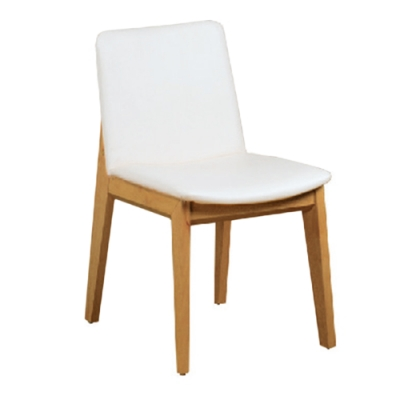 H&D 白色和風餐椅