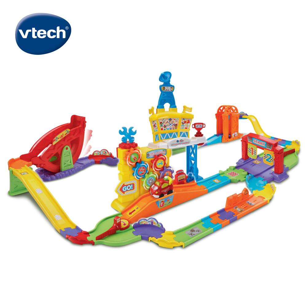 【Vtech】嘟嘟車系列-超級遙控賽車軌道組