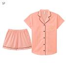 aimerfeel 短袖襯衫成套睡衣-淺鮭紅 -823266-SP