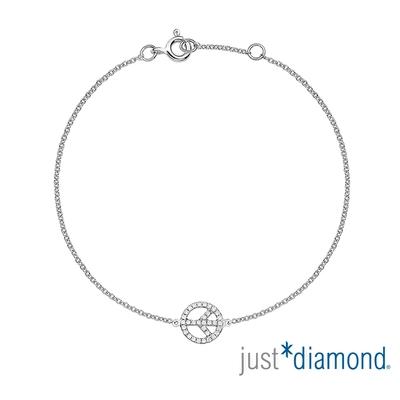 【Just Diamond】18K金鑽石手鍊 Peaceful